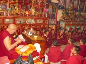 rinpoche and young monks